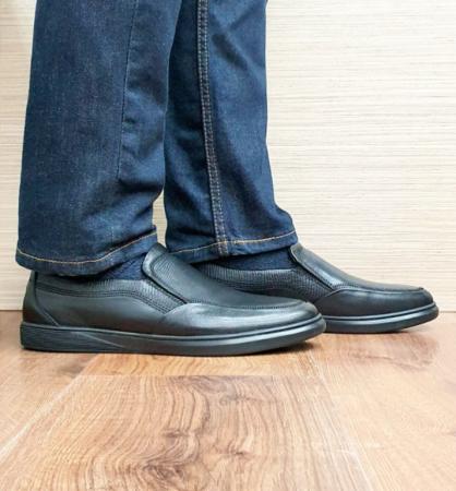 Pantofi Barbati Casual Piele Naturala Otter Negri Moise B001030