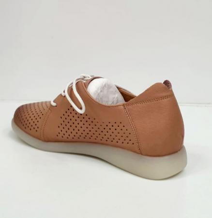 Pantofi Casual Piele Naturala Crem Zeal D026501