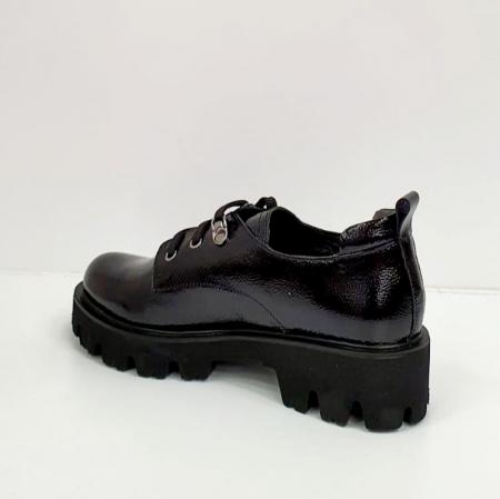 Pantofi Casual Piele Naturala Negri Amarna G026512
