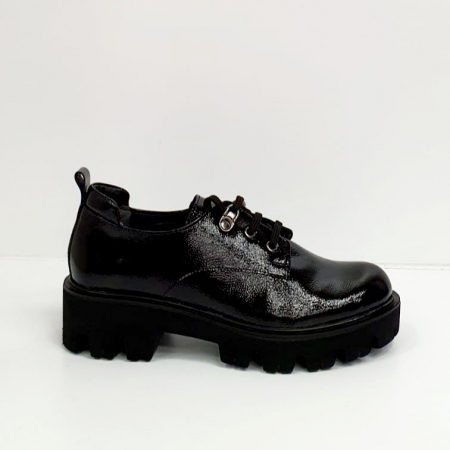 Pantofi Casual Piele Naturala Negri Amarna G026513