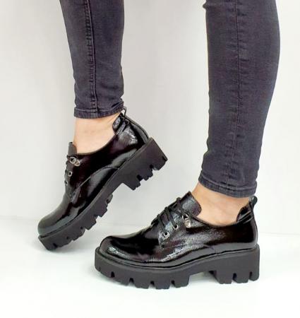 Pantofi Casual Piele Naturala Negri Amarna G026517