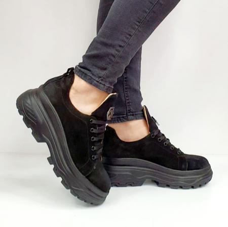 Pantofi Casual Piele Naturala Negri Nubia D02652 [0]