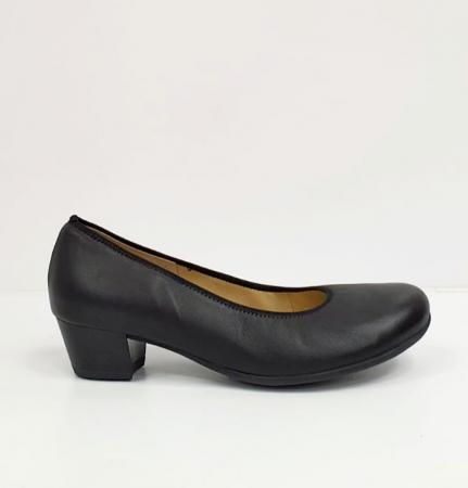 Pantofi cu toc Piele Naturala Negri Giovanna D026553