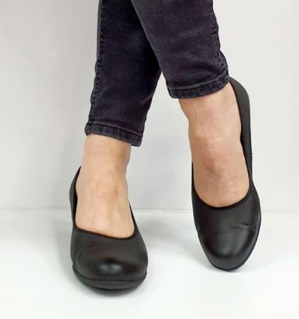Pantofi cu toc Piele Naturala Negri Giovanna D026554