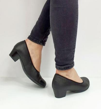 Pantofi cu toc Piele Naturala Negri Giovanna D026555