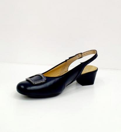 Pantofi Dama Piele Naturala Bleumarin Ara Karina D026566
