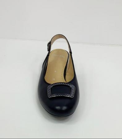 Pantofi Dama Piele Naturala Bleumarin Ara Karina D026568