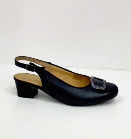 Pantofi Dama Piele Naturala Bleumarin Ara Karina D026565