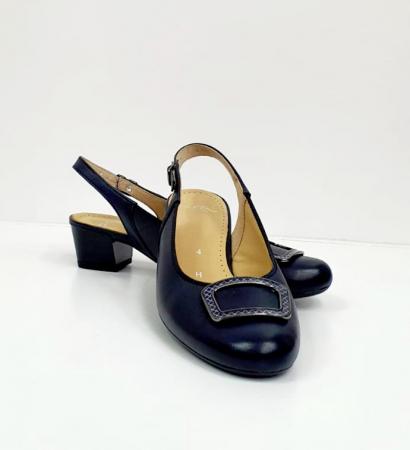 Pantofi Dama Piele Naturala Bleumarin Ara Karina D026567