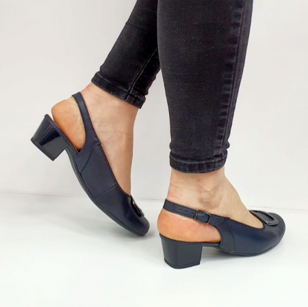 Pantofi Dama Piele Naturala Bleumarin Ara Karina D026564