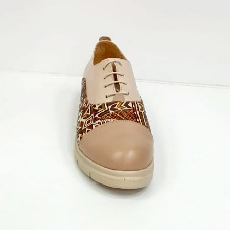 Pantofi Casual Piele Naturala Nude Brenda D026622