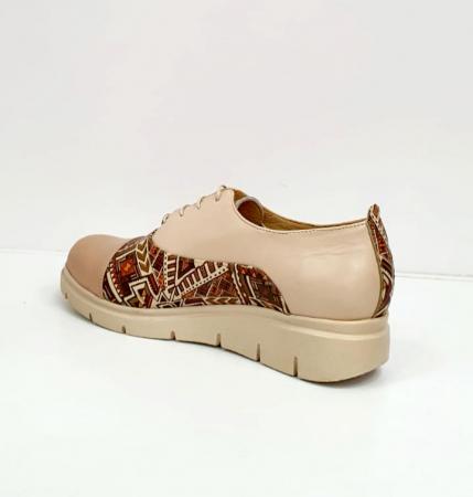Pantofi Casual Piele Naturala Nude Brenda D026623