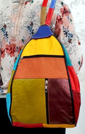 Rucsac Dama Piele Naturala Multicolor Seana G006816