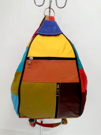 Rucsac Dama Piele Naturala Multicolor Seana G006814