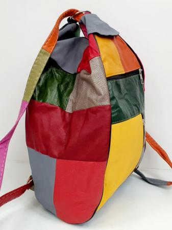 Rucsac Dama Piele Naturala Multicolor Seana G006821