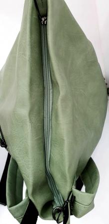 Rucsac Dama Piele Verde Mayara G007343