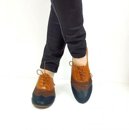 Pantofi Casual Piele Naturala Bleumarin Eluise D026993