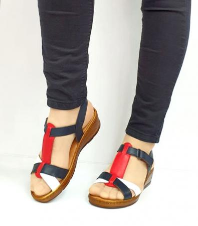 Sandale Dama Piele Naturala Negre Marilena D027022