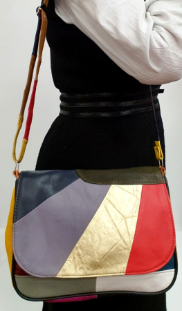Geanta Dama Piele Naturala Multicolora Ada G007785