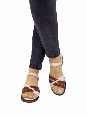 Sandale Dama Piele Naturala Nude Ielna D027133