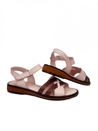 Sandale Dama Piele Naturala Nude Ielna D027137