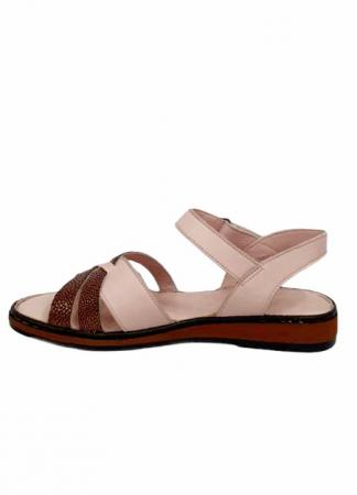 Sandale Dama Piele Naturala Nude Ielna D027136