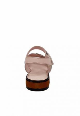 Sandale Dama Piele Naturala Nude Ielna D027139