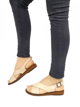 Sandale Dama Piele Naturala Bej Orama D027141