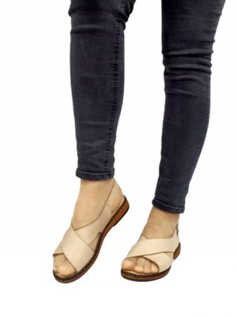Sandale Dama Piele Naturala Bej Orama D027142