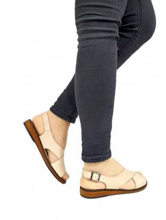Sandale Dama Piele Naturala Bej Orama D027145