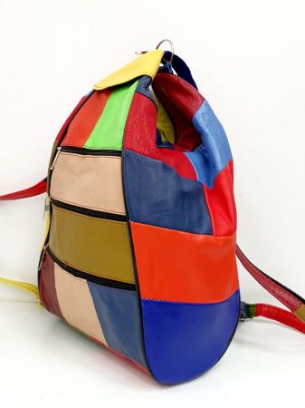 Rucsac Dama Piele Naturala Multicolora Seana G00847 [2]