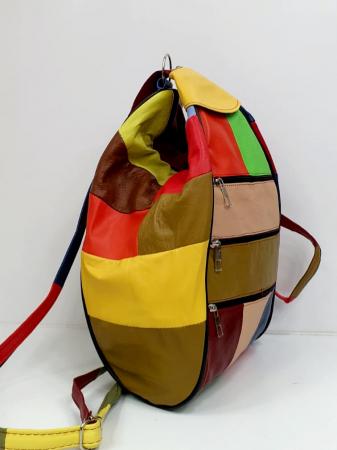 Rucsac Dama Piele Naturala Multicolora Seana G00847 [1]
