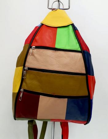 Rucsac Dama Piele Naturala Multicolora Seana G00847 [0]