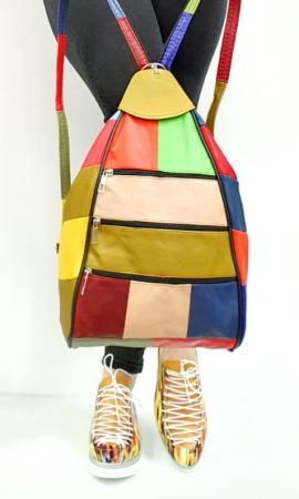 Rucsac Dama Piele Naturala Multicolora Seana G00847 [6]