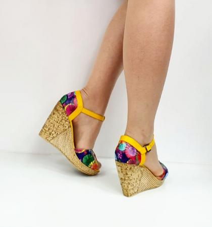 Sandale Dama Piele Naturala Galbeni Ami D02715 [3]
