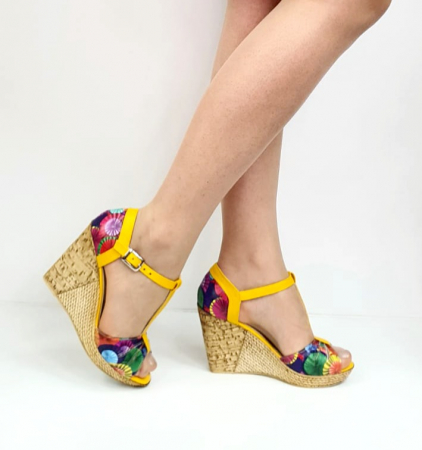 Sandale Dama Piele Naturala Galbeni Ami D02715 [0]
