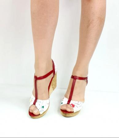 Sandale Dama Piele Naturala Rosii Ami D02716 [3]