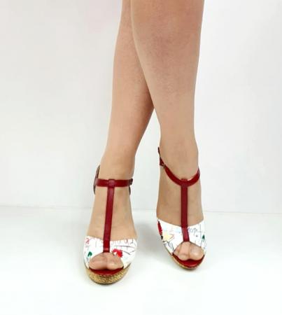 Sandale Dama Piele Naturala Rosii Ami D02716 [2]