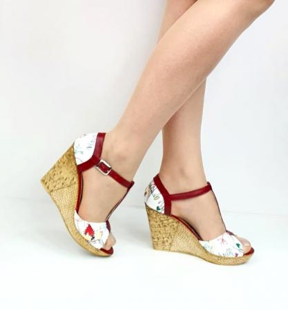 Sandale Dama Piele Naturala Rosii Ami D02716 [0]