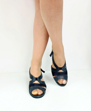 Sandale Dama Piele Naturala Suave Bleumarin Damaris D02719 [2]