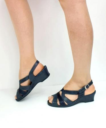 Sandale Dama Piele Naturala Suave Bleumarin Damaris D02719 [1]