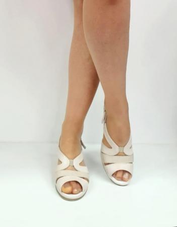 Sandale Dama Piele Naturala Suave Bej Damaris D02720 [1]