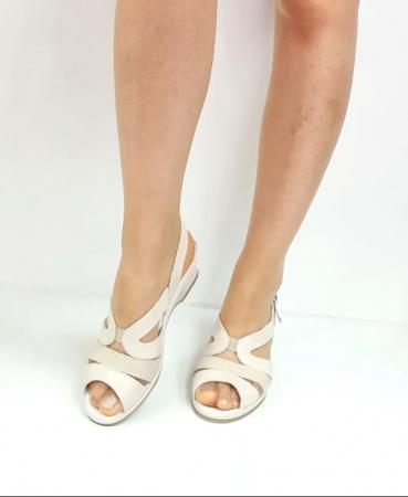 Sandale Dama Piele Naturala Suave Bej Damaris D02720 [2]
