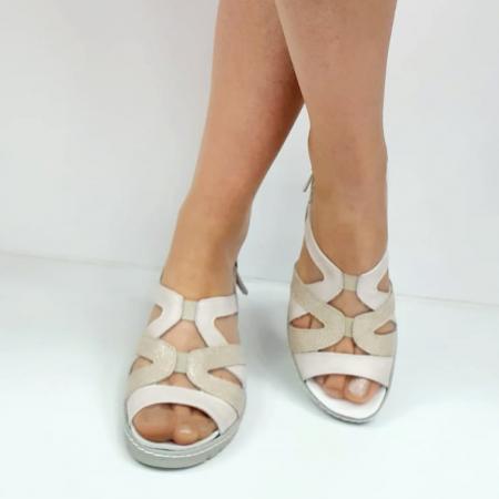 Sandale Dama Piele Naturala Suave Bej Niculina D02721 [2]