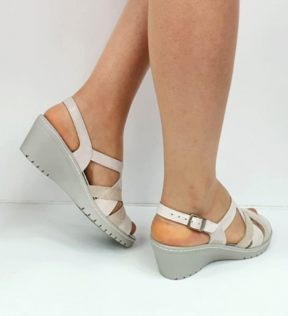Sandale Dama Piele Naturala Suave Bej Niculina D02721 [4]