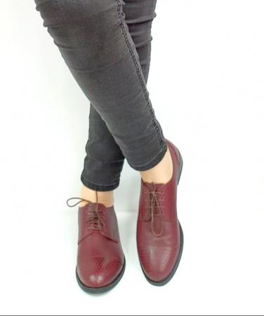 Pantofi Casual Piele Naturala Grena Edena D02728 [2]