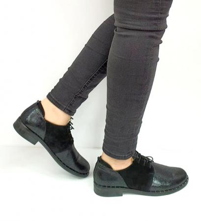 Pantofi Casual Piele Naturala Negri Adeline D02729 [3]