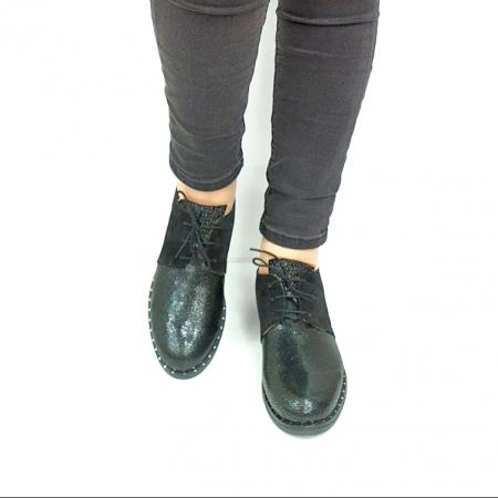 Pantofi Casual Piele Naturala Negri Adeline D02729 [4]