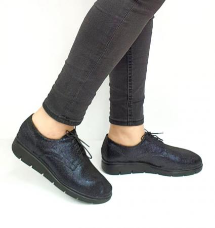 Pantofi Casual Piele Naturala Bleumarin Agathe D02730 [0]