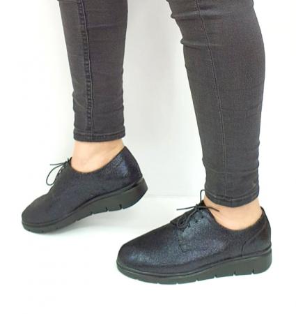 Pantofi Casual Piele Naturala Bleumarin Agathe D02730 [1]